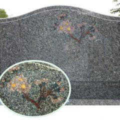 桜 埋め込み彫刻